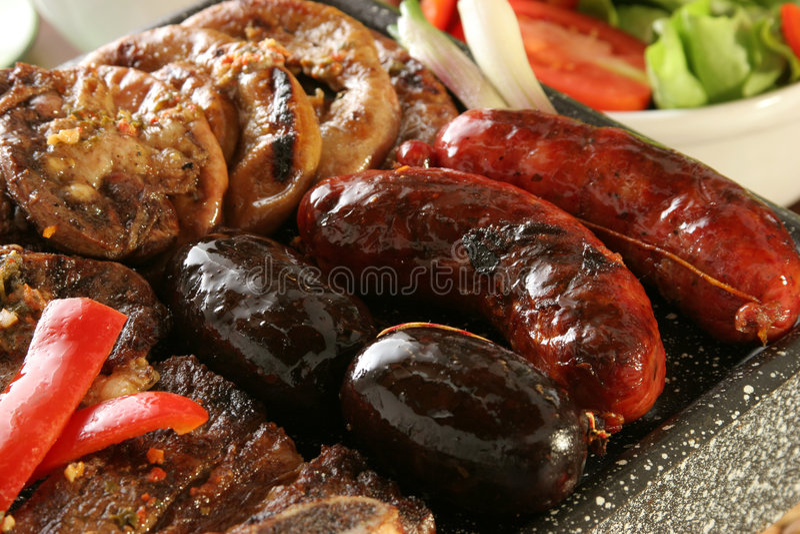 Argetnine barbecue stock photos