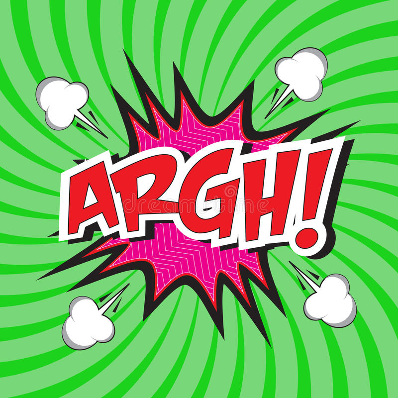 ARGH! grappig woord stock illustratie