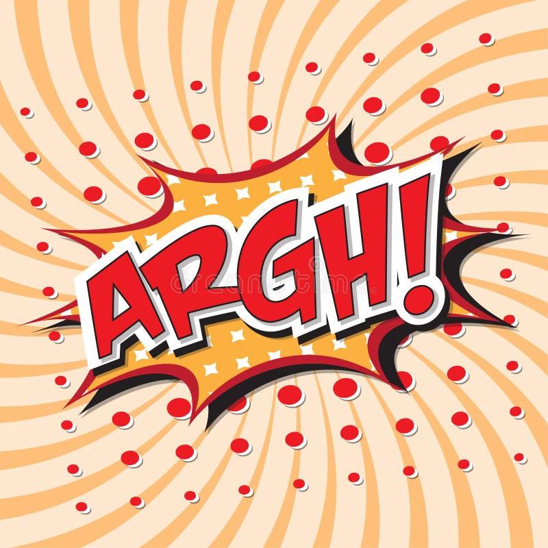 ¡ARGH! palabra cómica ilustración del vector