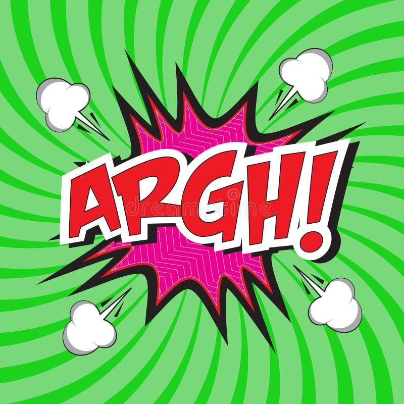 ¡ARGH! palabra cómica stock de ilustración