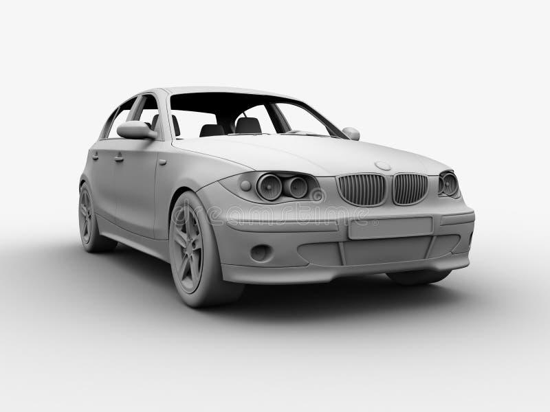 A argila 3D do carro rende ilustração royalty free