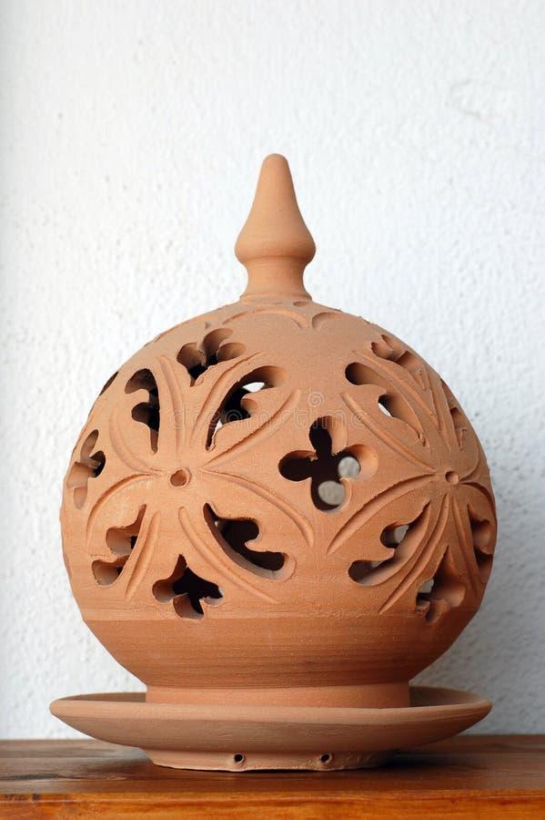 Argila cerâmica da lâmpada imagem de stock royalty free