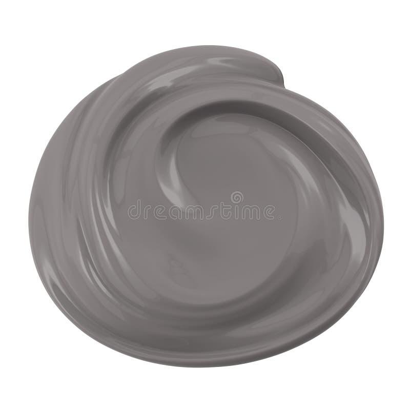 Argila cosmética isolada no branco ilustração royalty free