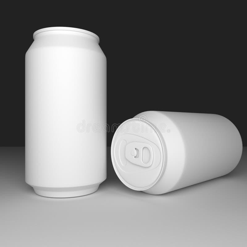 A argila da lata de soda rende imagem de stock