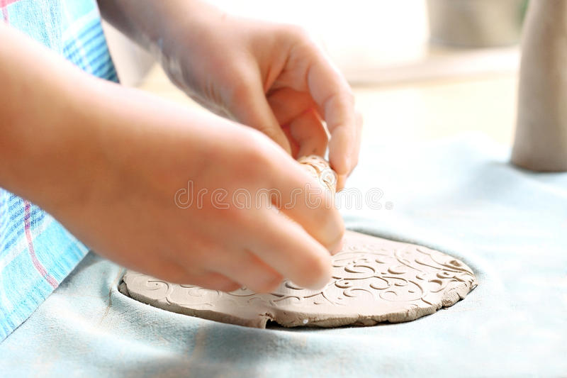 Argila para a cerâmica foto de stock