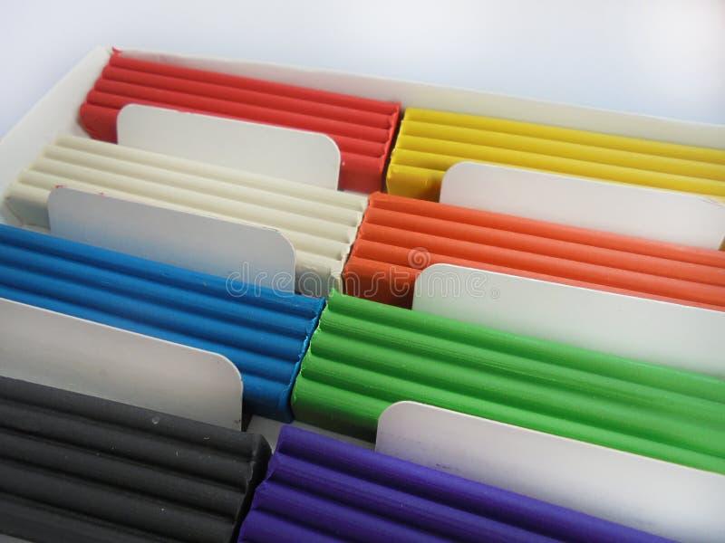 Argile coloré photographie stock