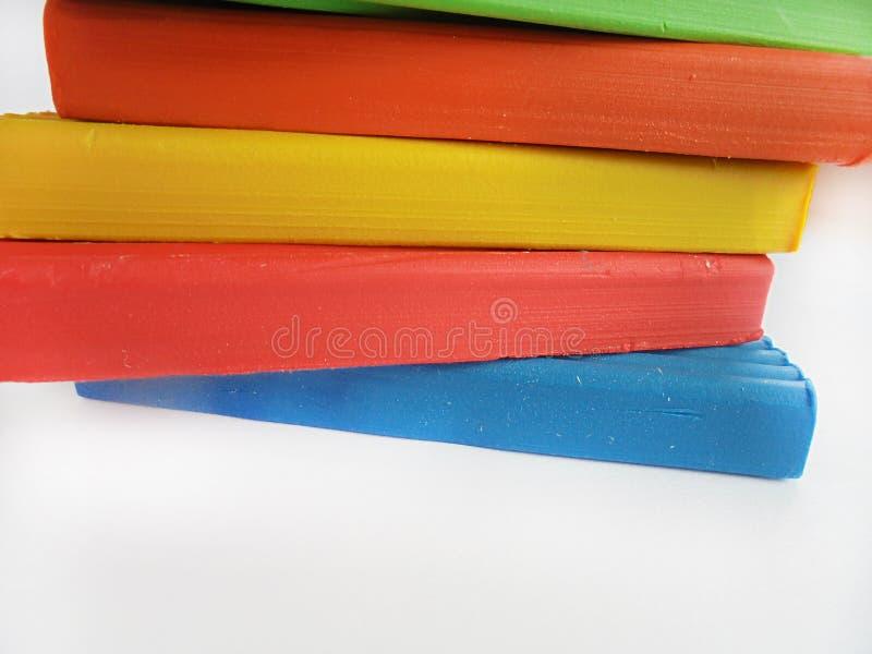Argile coloré image stock