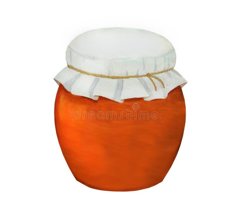 Argile, pot en céramique avec quelque chose à l'intérieur illustration stock