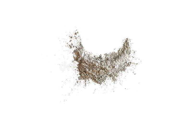 Argilla cosmetica isolata su fondo bianco, fotografie stock libere da diritti