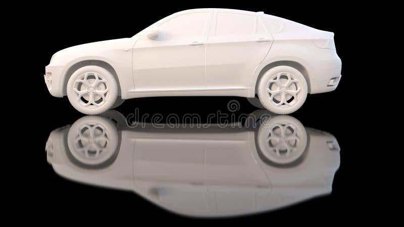 Argilla di bianco dell'automobile royalty illustrazione gratis