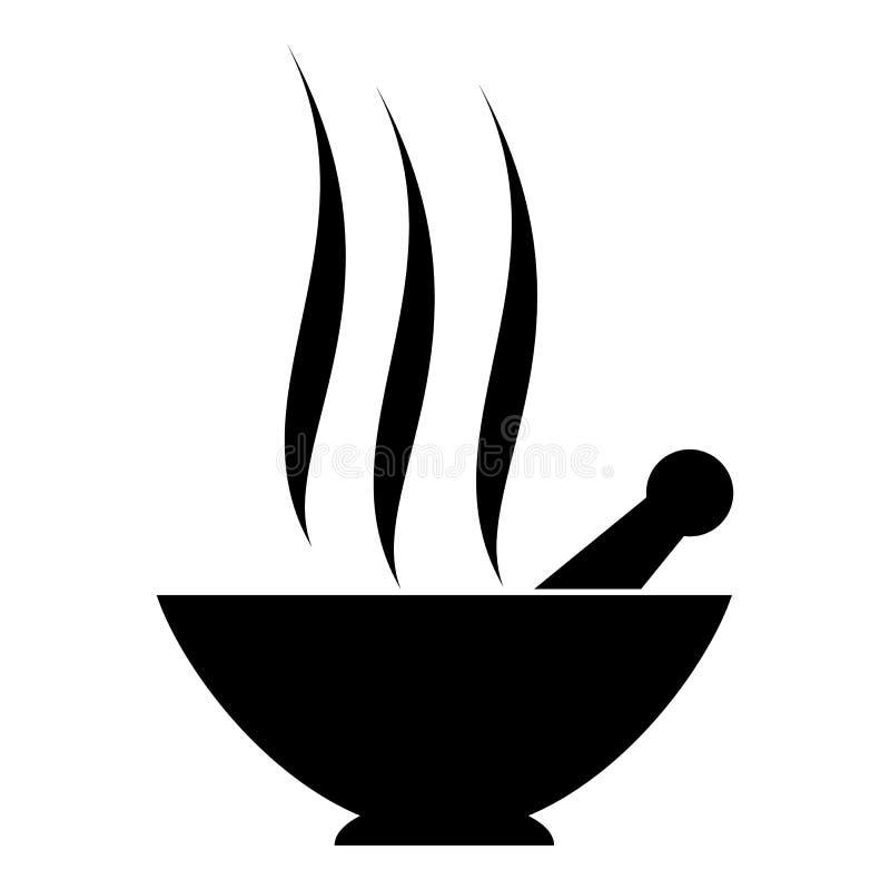 Argilla in tazza per l'icona della stazione termale, stile semplice illustrazione di stock