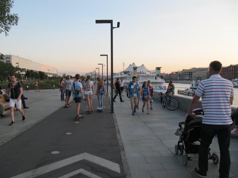 Argine del fiume di Mosca immagini stock
