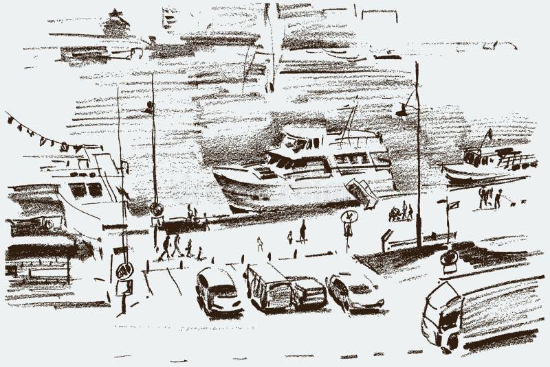 Argine della città royalty illustrazione gratis