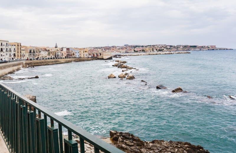 Argine a Siracusa, Sicilia fotografia stock libera da diritti