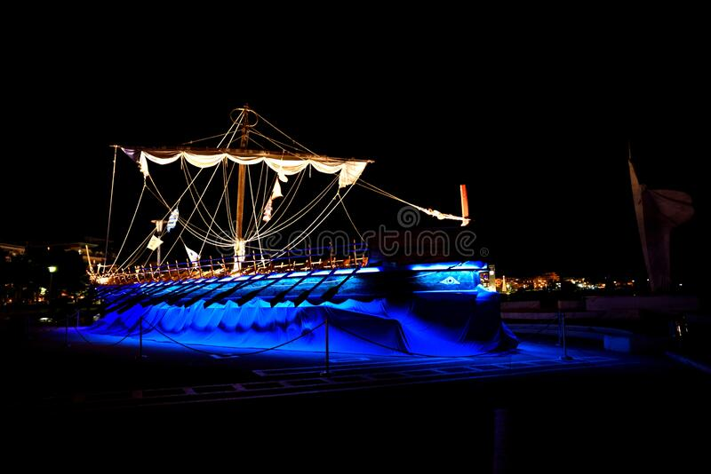 The Argo Ship , replica , Volos, Greece Jason & the Argonauts royalty free stock images