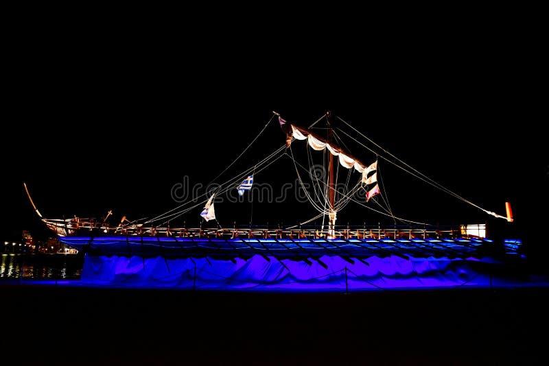 The Argo Ship , replica , Volos, Greece Jason & the Argonauts royalty free stock photo