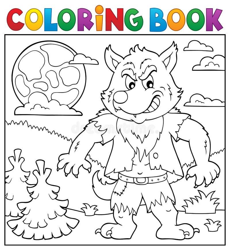 Argomento 2 Del Lupo Mannaro Del Libro Da Colorare Illustrazione