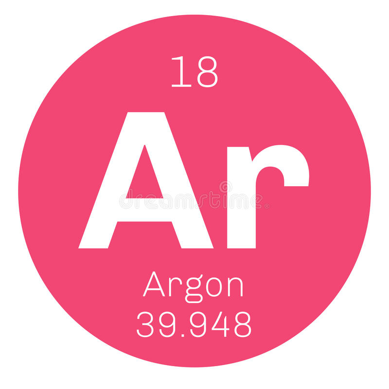 Argon Chemical Element Stock Vector Illustration Of Symbol 83097830