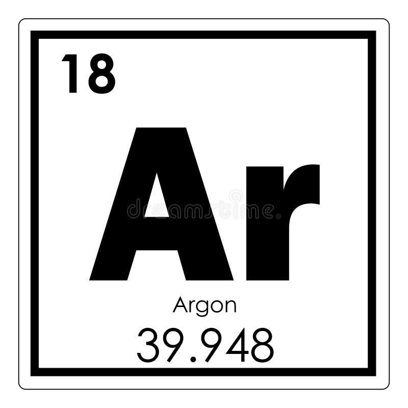 Argon Chemical Element Stock Illustration Illustration Of Geek
