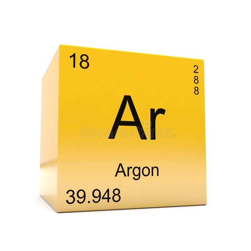 Argon Chemical Element Symbol From Periodic Table Stock Illustration