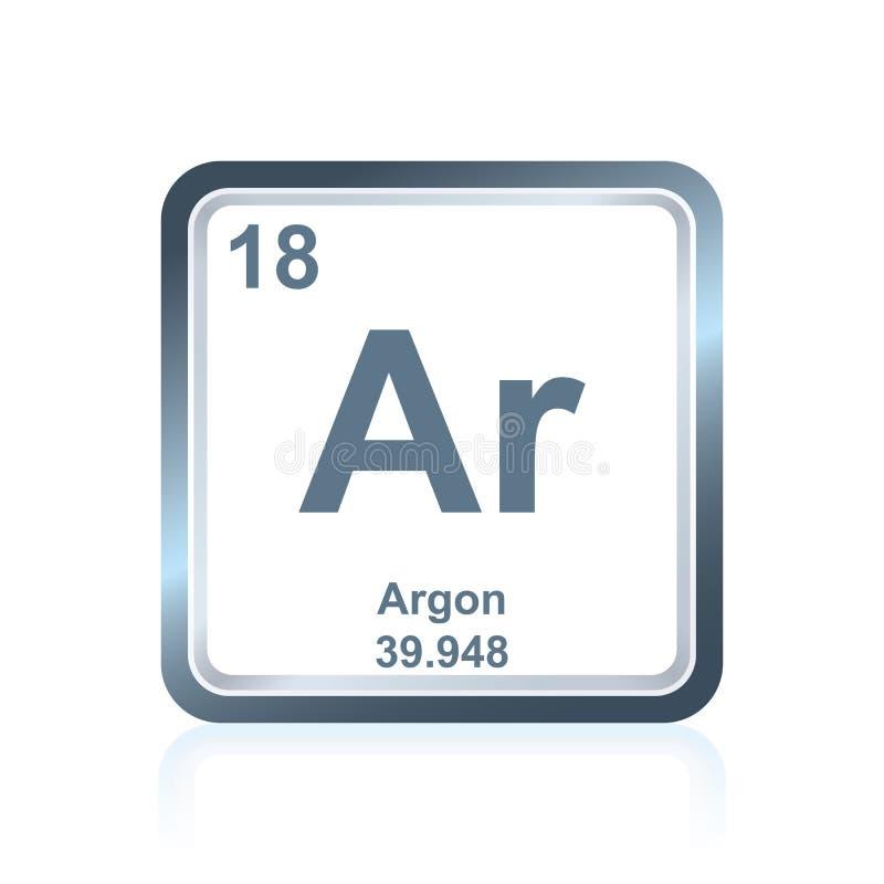 Argon för kemisk beståndsdel från den periodiska tabellen stock illustrationer