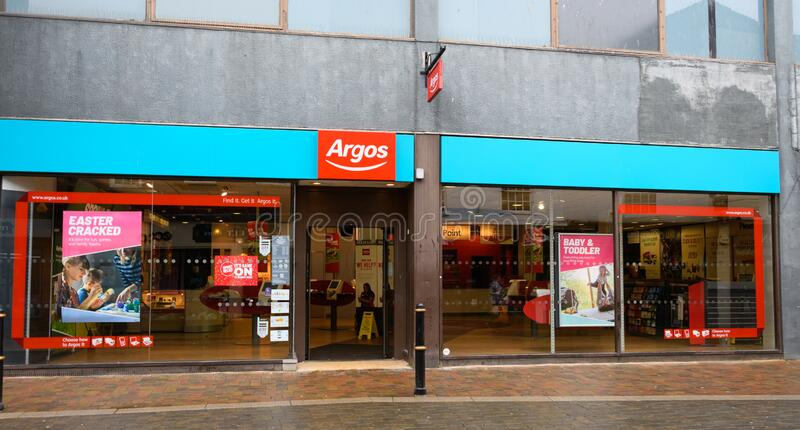 Argos store Worcester. Worcester, United Kingdom - March 15 2020:  The frontage of Argos Catalogue store on The Shambles royalty free stock photography