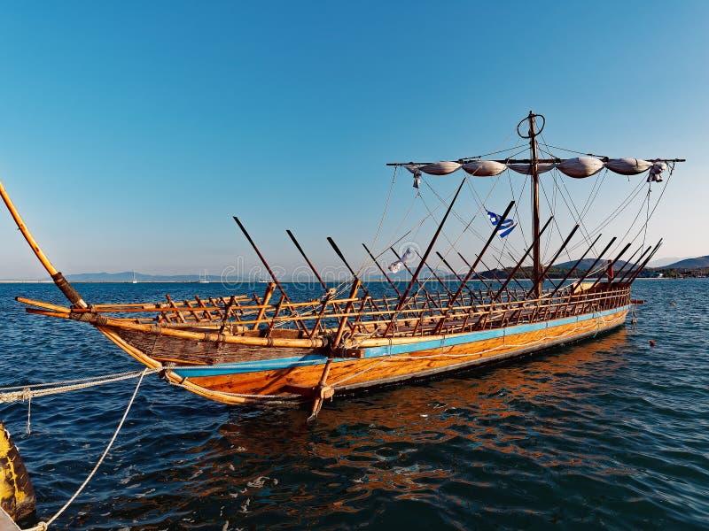 Argoschip, Volos, Griekenland stock foto
