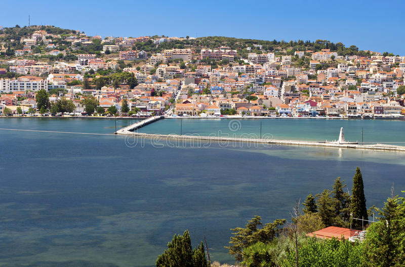 Argostoli City At Kefalonia Island Greece Stock Image Image of