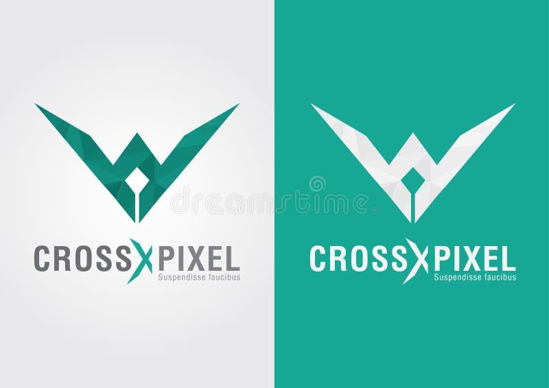 Argt PIXEL En modern design och färg för stilformsymbol vektor illustrationer
