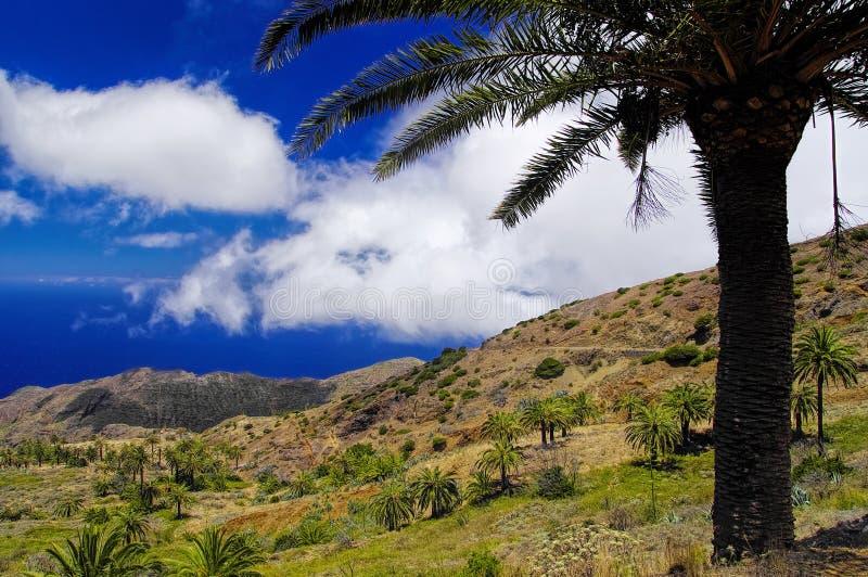 The Arguamul coastline view, La Gomera stock image
