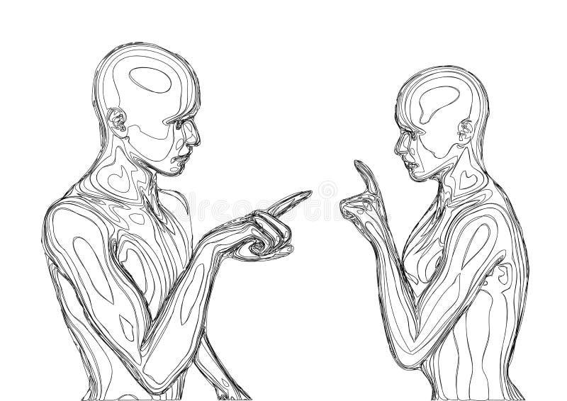 arguing couple ελεύθερη απεικόνιση δικαιώματος