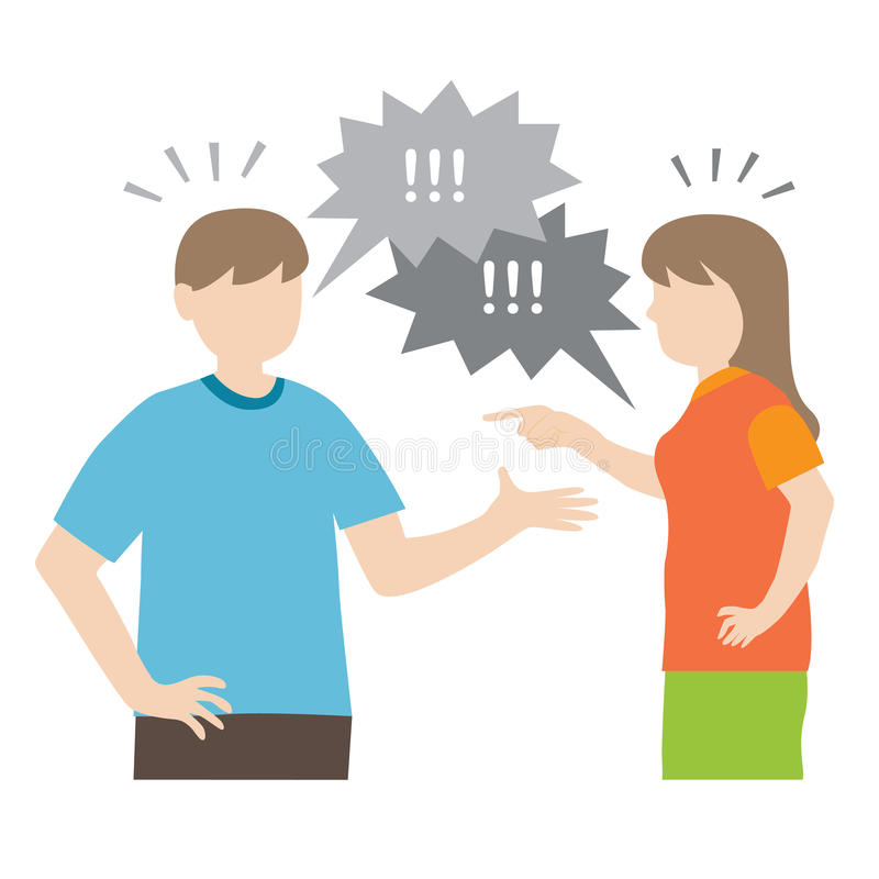 Arguing couple royalty free illustration