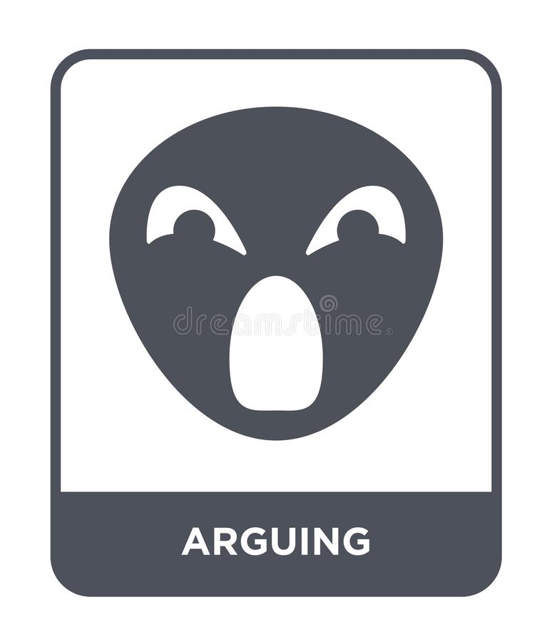 arguing icon in trendy design style. arguing icon isolated on white background. arguing vector icon simple and modern flat symbol stock illustration