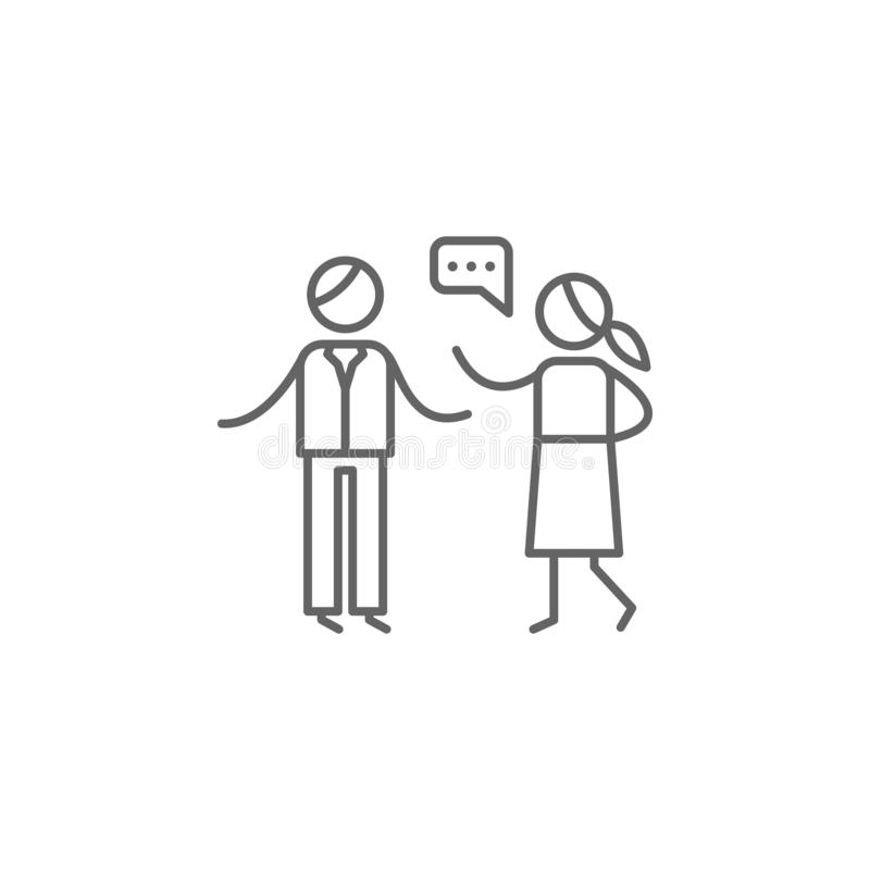 Argument, familiepictogram Element van gezinslevenpictogram Dun lijnpictogram voor websiteontwerp en ontwikkeling, app ontwikkeli royalty-vrije illustratie