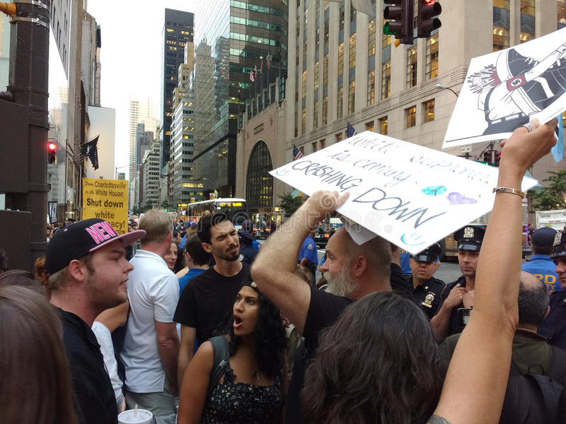 Argument Among Protesters, NYC, NY, USA royalty free stock photo