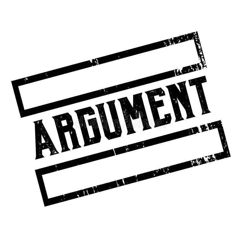 Argument reclamesticker stock illustratie