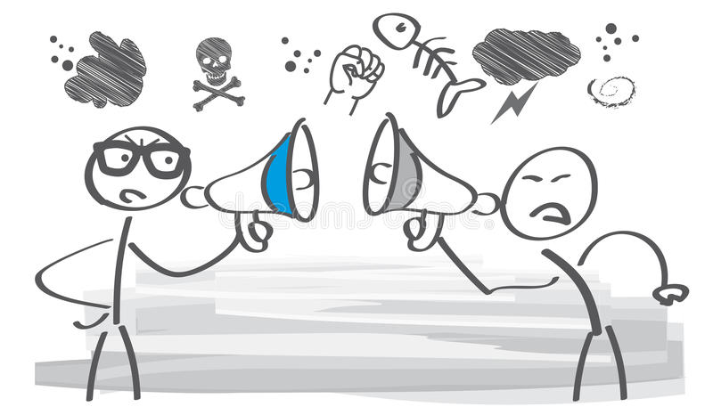 Argumentação - ilustração ilustração royalty free