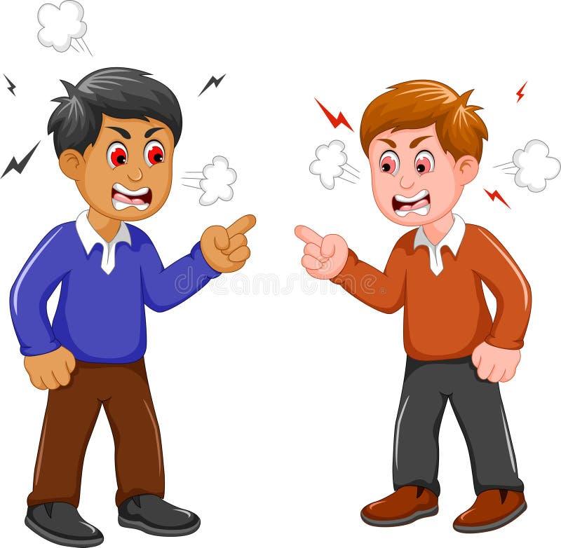 Argumentação irritada de dois homens ilustração royalty free