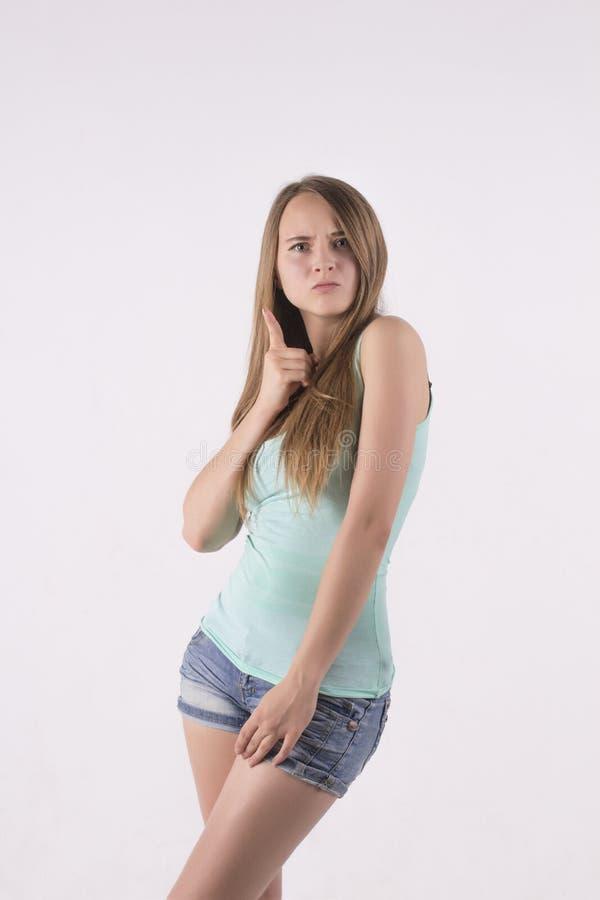 Argumentação segura da mulher fotos de stock