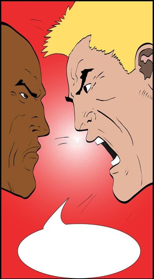 Discutindo homens ilustração stock