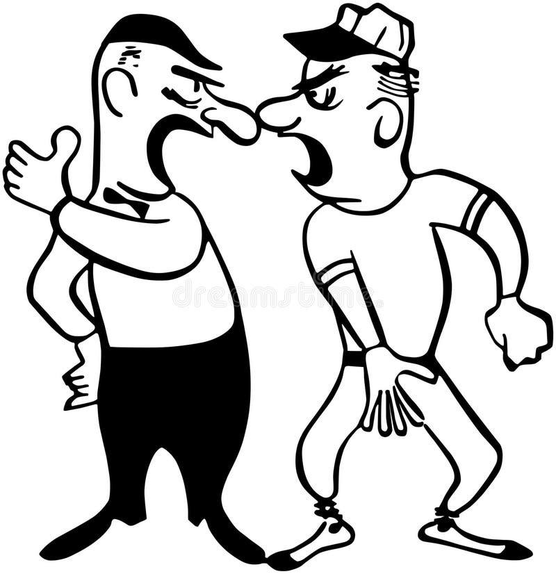Argumentation avec l'arbitre illustration libre de droits
