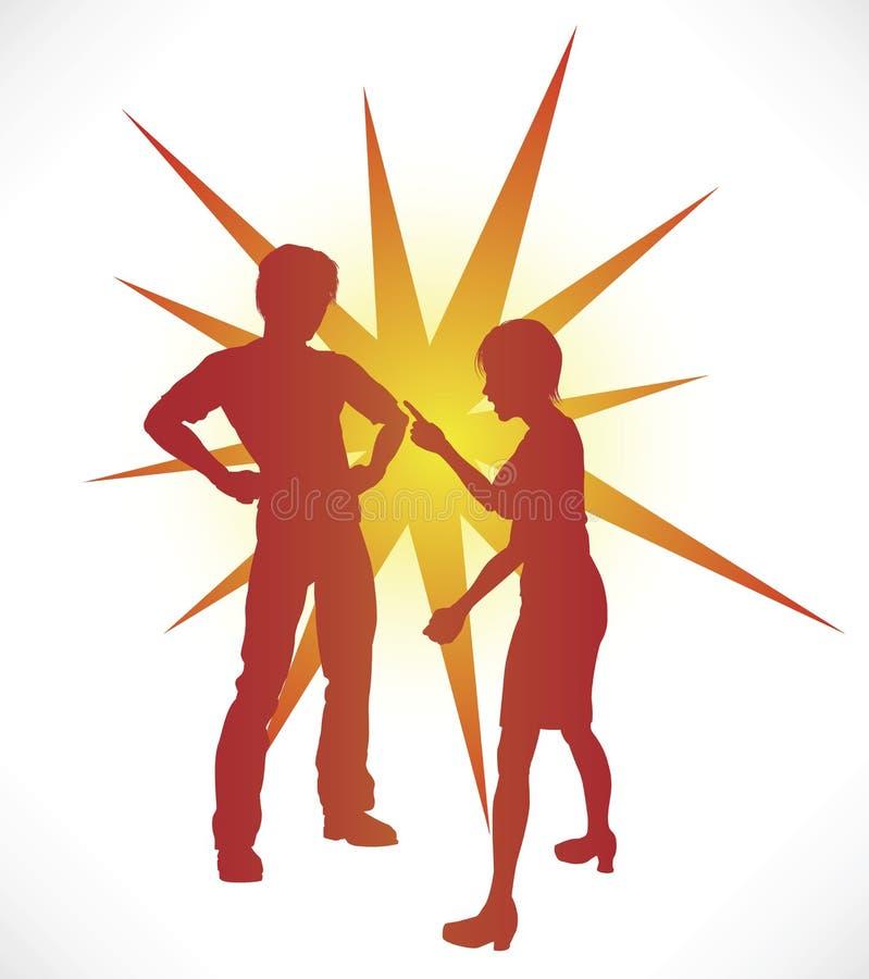 Argumentation de couples illustration libre de droits