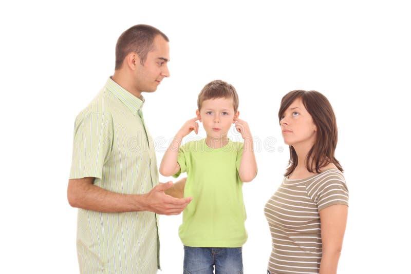Argumentation de famille image libre de droits