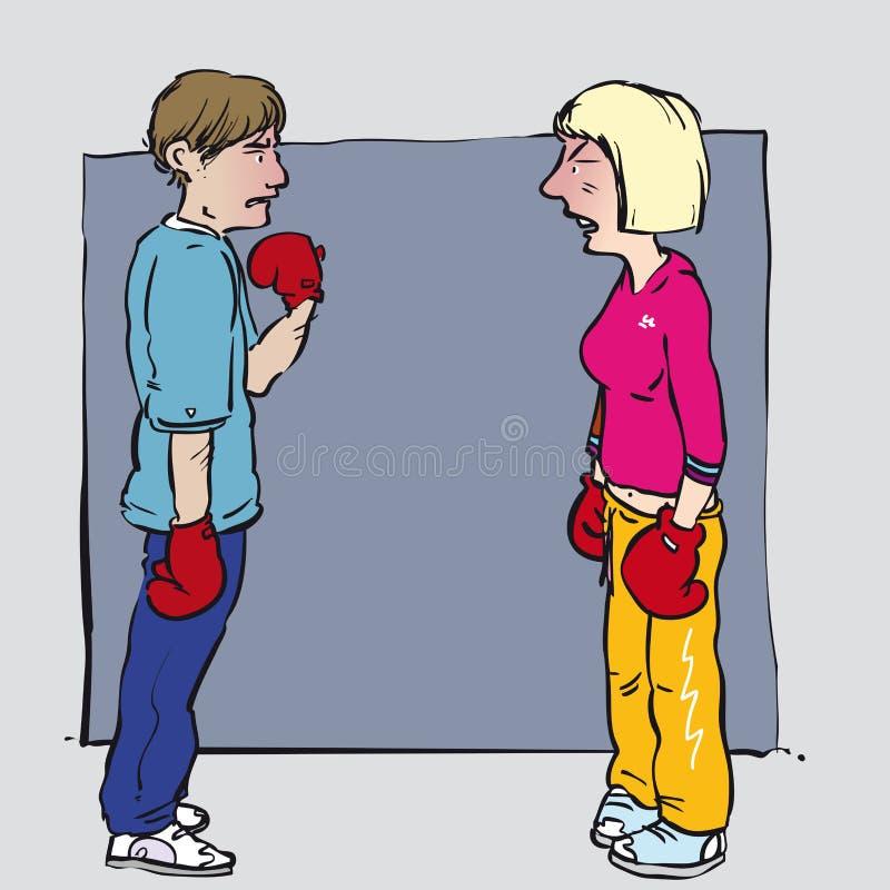 Argumentation des couples illustration libre de droits
