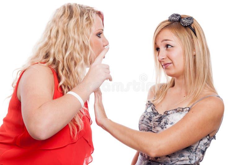 Argumentera för flickvänner royaltyfri fotografi