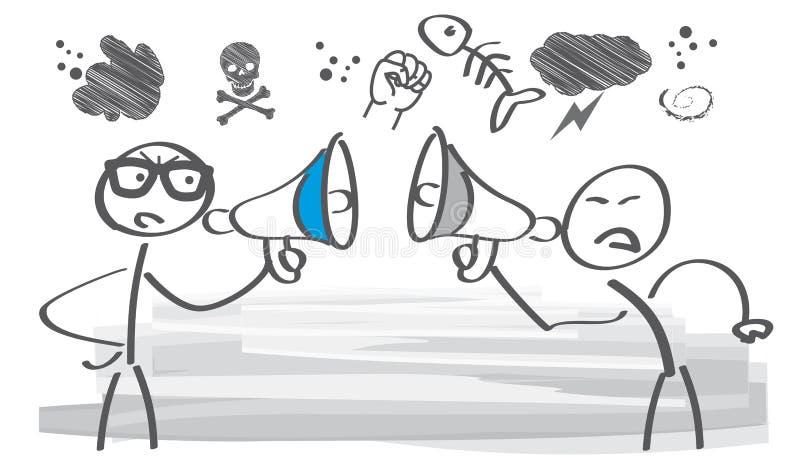 Argumentierung - Illustration lizenzfreie abbildung