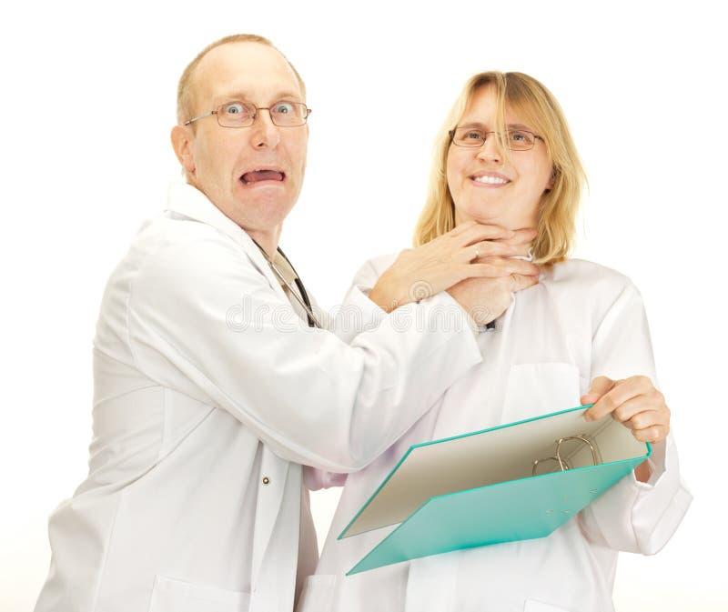 Argumentierung mit zwei Doktoren stockbilder
