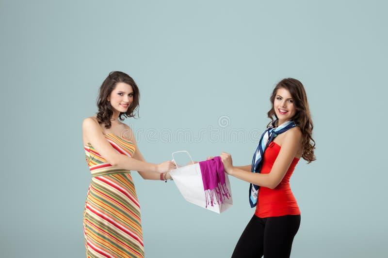 Argumentierung mit zwei Frauen lizenzfreie stockfotos