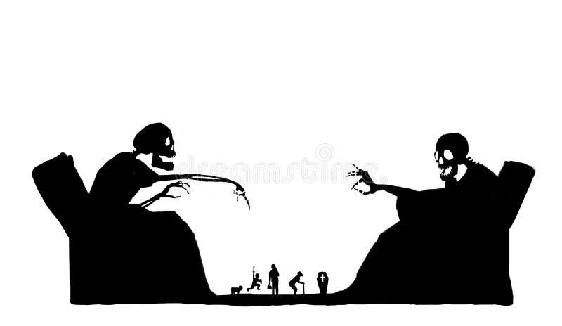 Argumento na morte do abd da vida ilustração stock