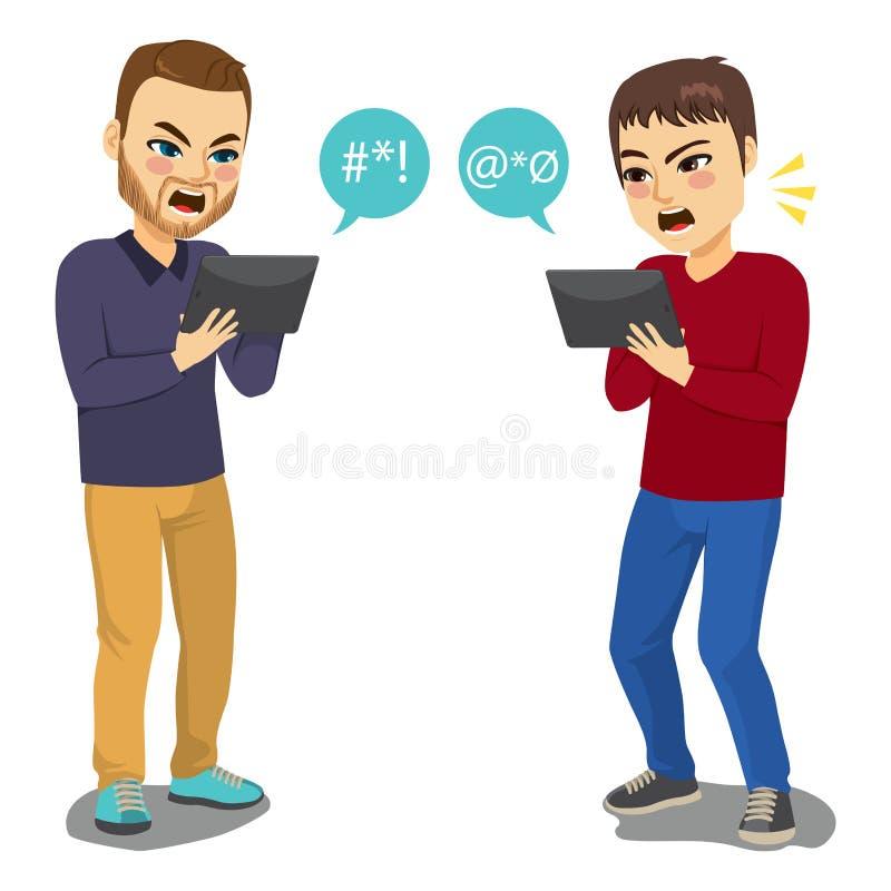 Argumento social dos meios ilustração royalty free